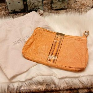 $585 JIMMY CHOO CLUTCH W/ DUST BAG